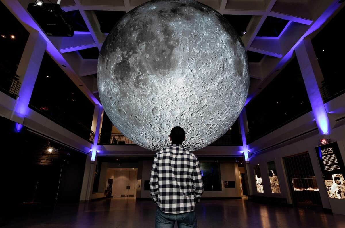 The Moon display at the Houston Museum of Natural Science