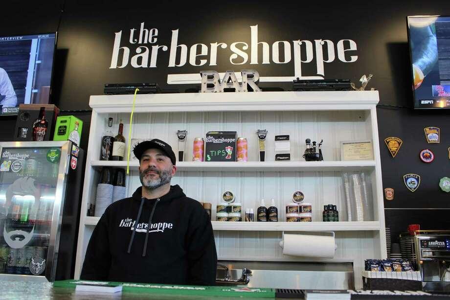 Ralph Bonadio, owner of the Barbershoppe in Trumbull. Photo: Jordan Grice / Hearst Connecticut Media / Connecticut Post