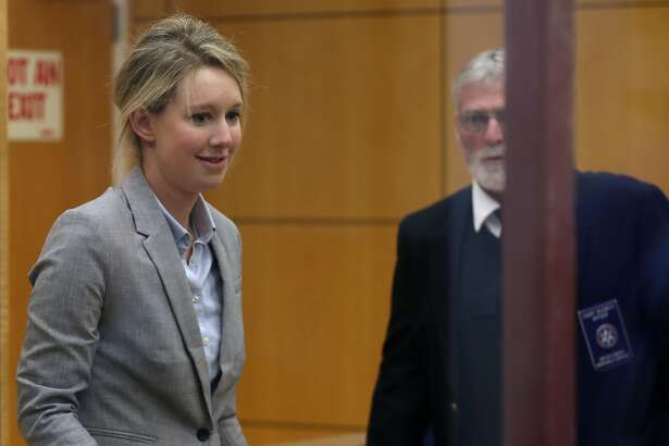 SAN JOSE, CALIFORNIA - APRIL 22: Former Theranos founder and CEO Elizabeth Holmes arrives at the Robert F. Peckham U.S. Federal Court on April 22, 2019 in San Jose, California. Former Theranos CEO Elizabeth Holmes and former COO Ramesh Balwani appeared in federal court for a status hearing. Both are facing charges of conspiracy and wire fraud for allegedly engaging in a multimillion-dollar scheme to defraud investors with the Theranos blood testing lab services. (Photo by Justin Sullivan/Getty Images)