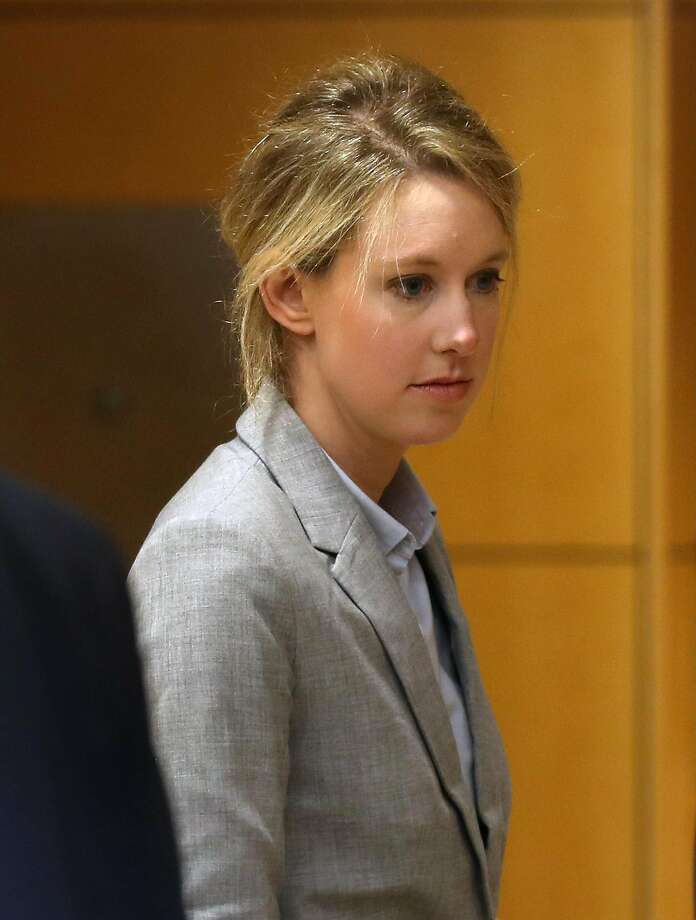 FILE - Former Theranos founder and CEO Elizabeth Holmes arrives at the Robert F. Peckham U.S. Federal Court on April 22, 2019 in San Jose, California. Former Theranos CEO Elizabeth Holmes and former COO Ramesh Balwani appeared in federal court for a status hearing. Both are facing charges of conspiracy and wire fraud for allegedly engaging in a multimillion-dollar scheme to defraud investors with the Theranos blood testing lab services.  Photo: Justin Sullivan, Getty Images