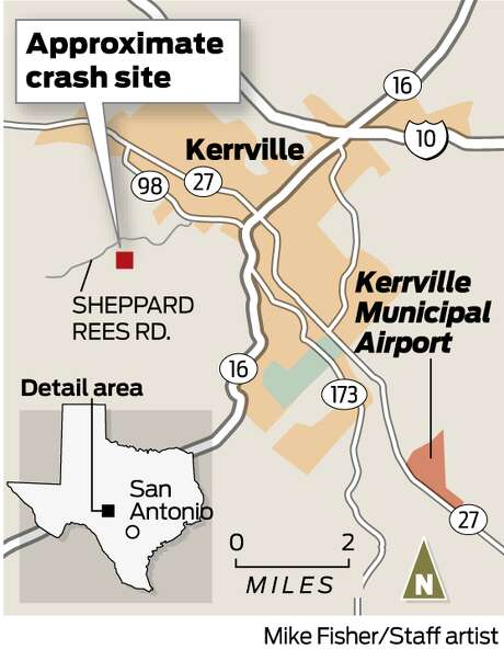 This map shows the approximate location of the deadly Kerrville plane crash. Photo: Michael Fisher