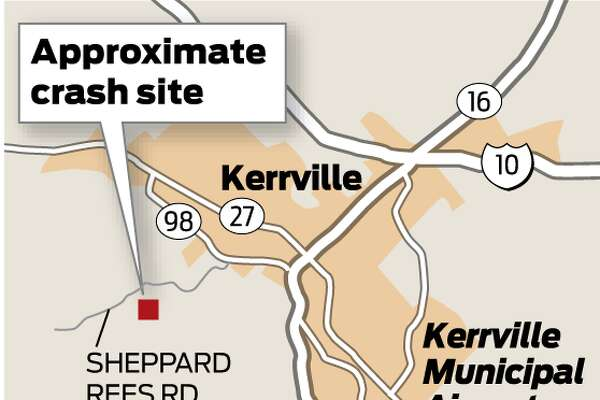 This map shows the approximate location of the deadly Kerrville plane crash.