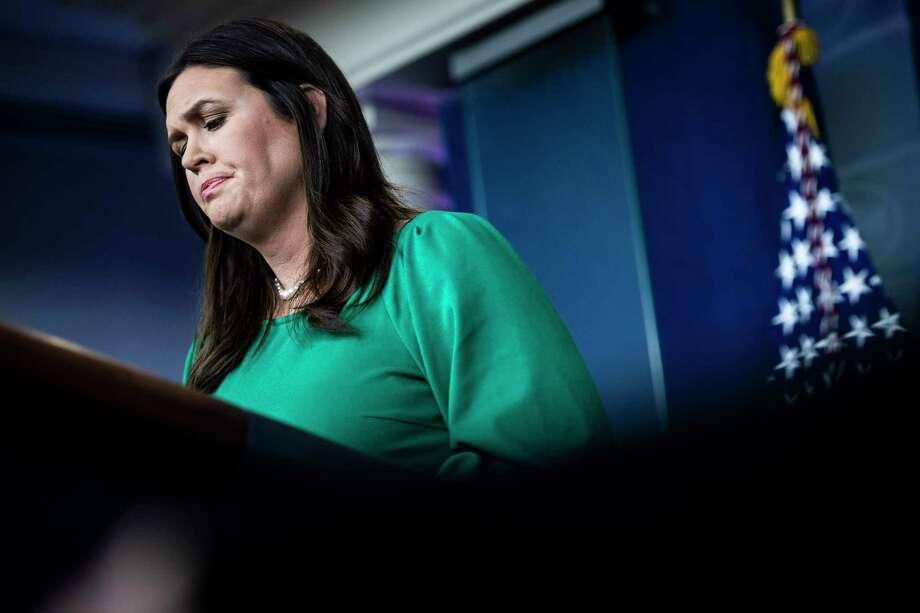 White House Press Secretary Sarah Sanders. Photo: Washington Post Photo By Jabin Botsford / The Washington Post