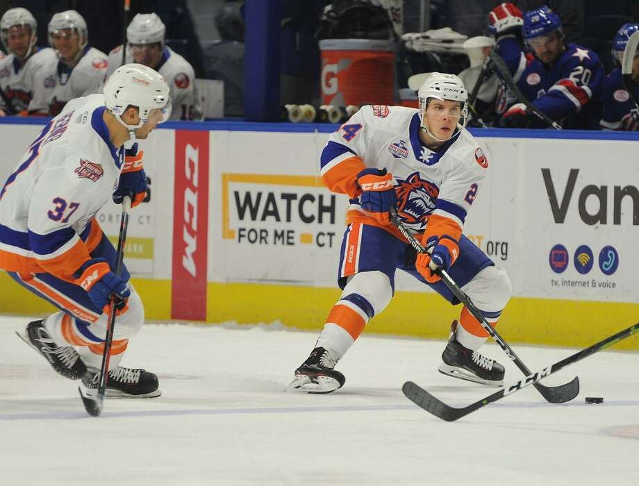 Travis St. Denis. Bridgeport Sound Tigers v. Rochester Americans AHL hockey at the Webster Bank Arena in Bridgeport, Conn. on Sunday, October 14, 2018. Photo: Brian A. Pounds / Hearst Connecticut Media / Connecticut Post