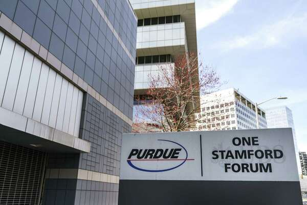 STAMFORD, CT - APRIL 2: Purdue Pharma headquarters stands in downtown Stamford, April 2, 2019 in Stamford, Connecticut. Purdue Pharma, the maker of OxyContin, and its owners, the Sackler family, are facing hundreds of lawsuits across the country for the company's alleged role in the opioid epidemic that has killed more than 200,000 Americans over the past 20 years. (Photo by Drew Angerer/Getty Images)