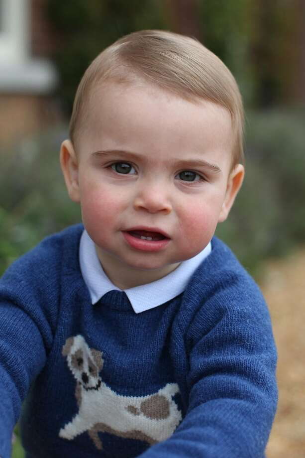 In this undated handout image released by the Duchess of Cambridge, Prince Louis taken by his mother, the Duchess of Cambridge, at their home in Norfolk earlier this month, to mark his first birthday.  (Photo by HRH The Duchess of Cambridge via Getty Images) Photo: Handout, The Duchess Of Cambridge Via Getty Images