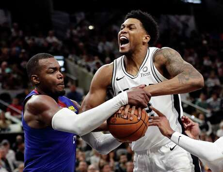 Rudy Gay, right, wasn't the only Spur to have a bad game Saturday. Marco Belinelli was only 1 of 5, and Davis Bertans scored five points and missed his only 3-point attempt.