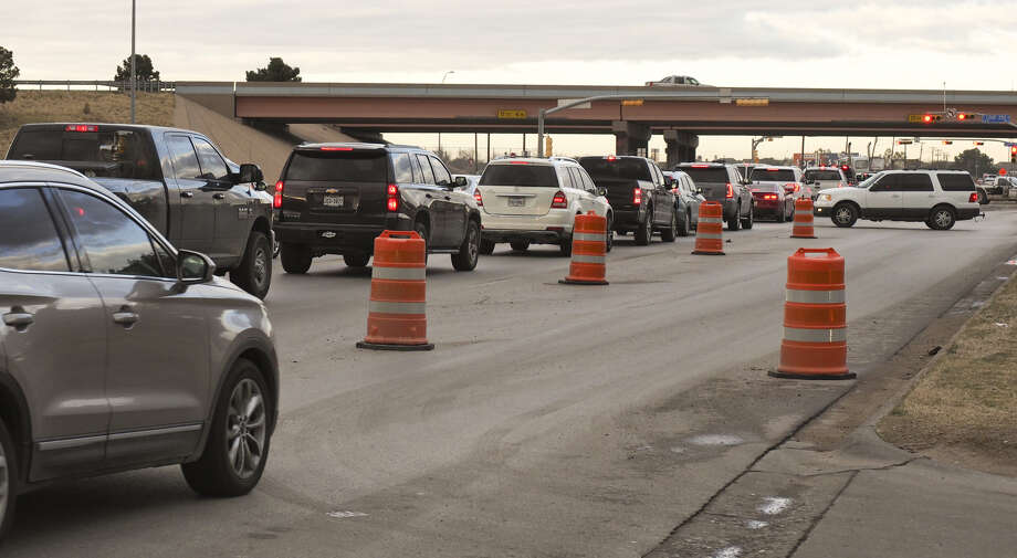 Traffic backed up at the light at Big Spring Street and Loop 250 heading north in December during construction. The Permian Basin Road Safety Coalition is transitioning to a full-time nonprofit to increase its efforts in the region. Photo: MRT File Photo
