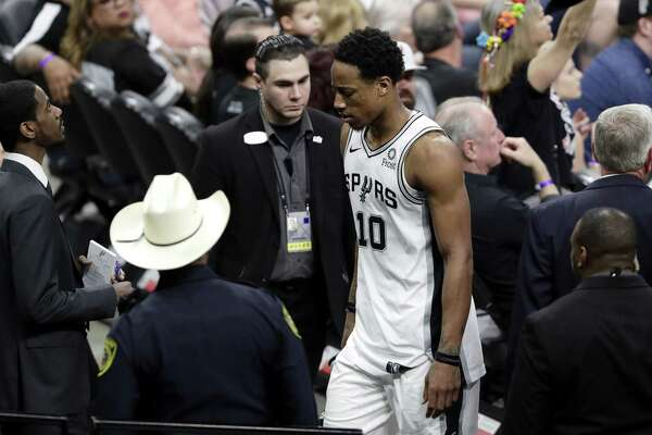 Spurs guard DeMar DeRozan was ejected during Saturday's Game 4 loss and fined $25,000 for what the NBA deemed a reckless toss of the ball toward referee Scott Foster.