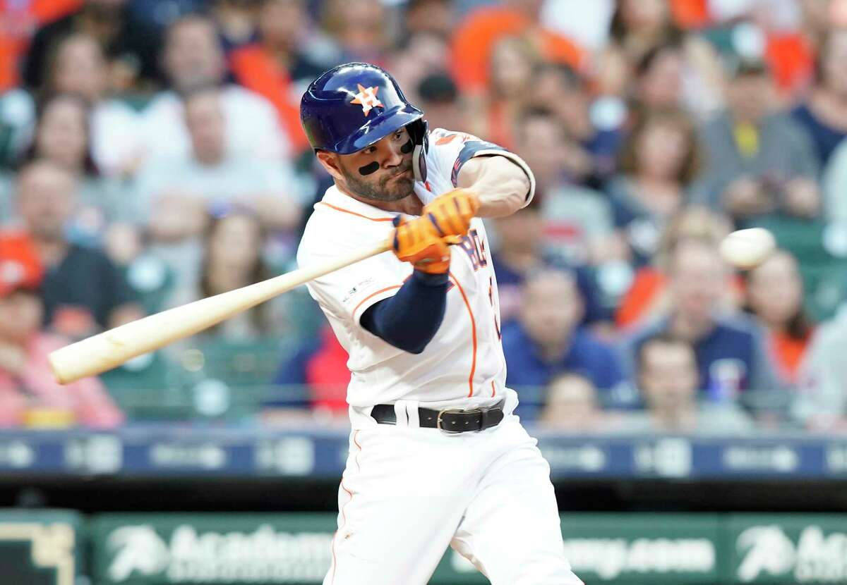 With his batting average this season about 70 points below his career average, Jose Altuve is