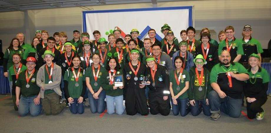 Dow High's Robotics Team 2619, The Charge, at the Kettering University District Competition (photo provided)