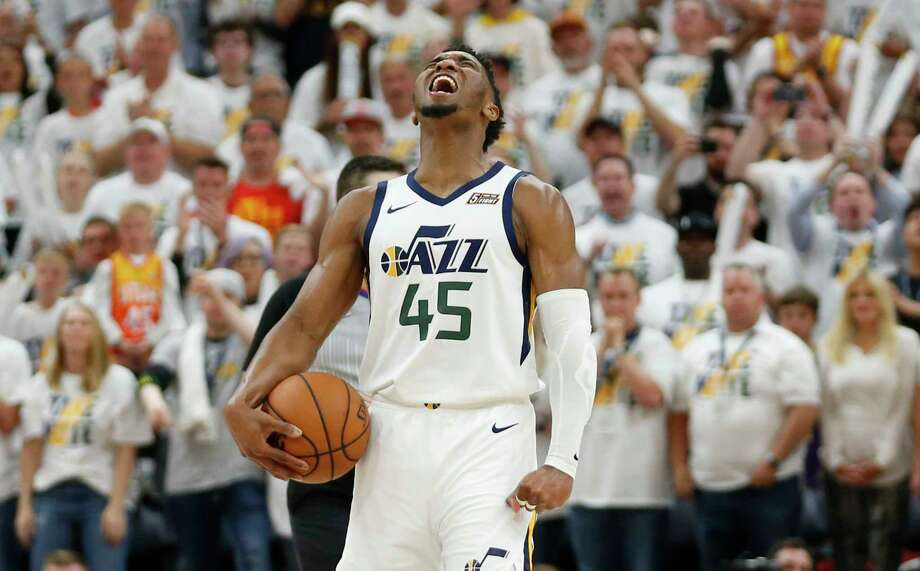 """He was childhood friends with Utah Jazz star Donovan MitchellMitchell and Paschall were AAU teammates as children, and once had aspirations of going to the same college. """"We would talk every day, talk about possibly going to the same school,"""" Paschall told the New York Post in 2018. """"That didn't happen."""" Mitchell went to Louisville and Paschall went to Fordham before transferring to Villanova. Photo: Rick Bowmer, Associated Press / Copyright 2019 The Associated Press. All rights reserved"""