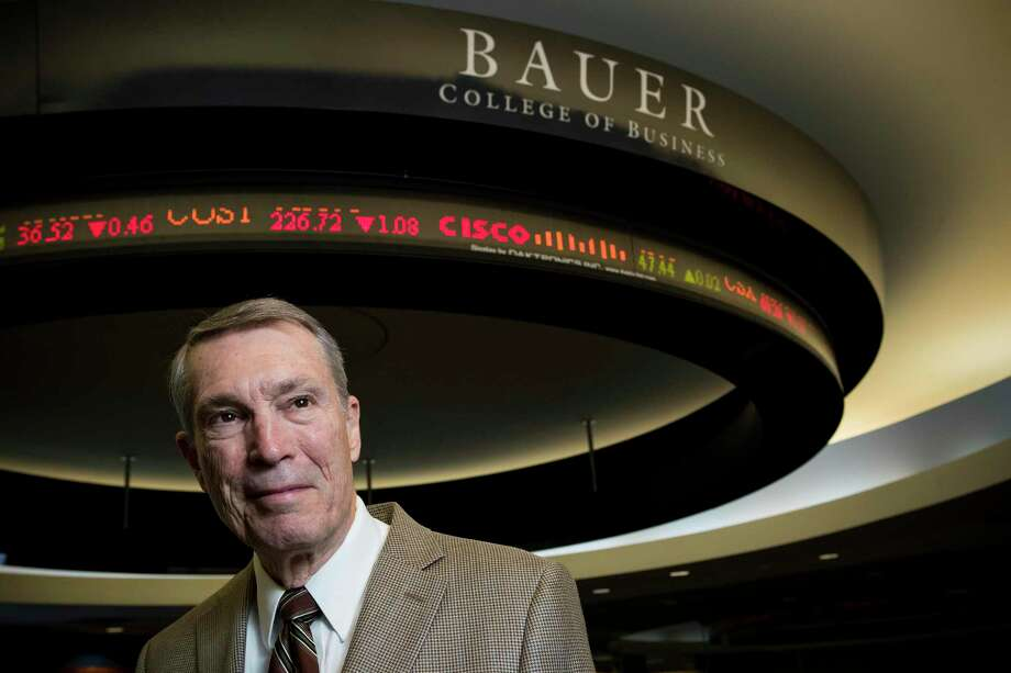Economist Bill Gilmer, director of the Institute for Regional Forecasting at the University of Houston's Bauer College of Business. Oil still makes the Houston economy go, Gilmer says. Photo: Brett Coomer, Houston Chronicle / Staff Photographer / © 2018 Houston Chronicle