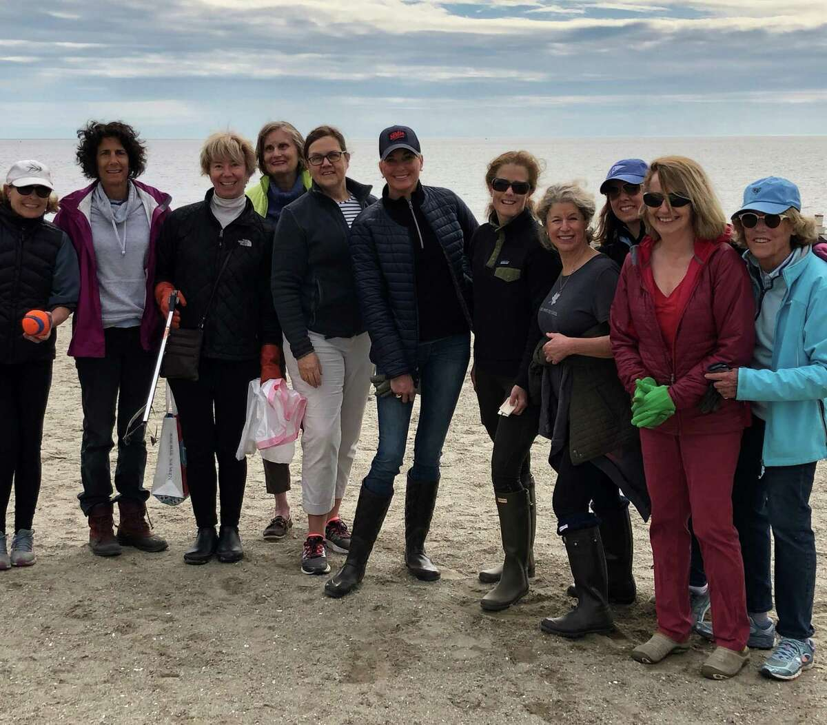 The clean-up crew, from left, Virginia Dean, Lorraine Indiveri, Nan Nelson, Sue Wittekind, Claire Van de Berghe, Olivia Charney, Jen Bargas, Whitney Vose, Candace Wagner, Barbara Wooten, Penny Ross. Not pictured, Carolyn Stubbs.