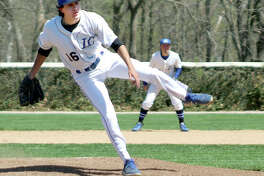 Lewis and Clark pitcher Brandon Hampton got the win on the mound for LCCC in the first game of a doubleheader sweep at Vincennes University Monday. He pitched six innings, scattered six hits, struck out one and walked four.