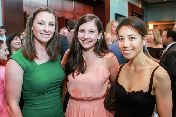 Cali Hildebrandt, from left, Jorden McCollough and Tiffany Ramachandran at Bon Vivant, benefiting the Youth Development Center.