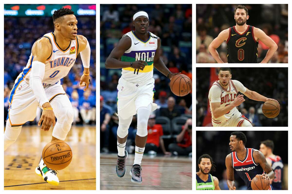3. UCLA Russell Westbrook, Thunder Jrue Holiday, Pelicans Kevin Love, Cavaliers Zach LaVine, Bulls Trevor Ariza, Wizards Others: Darren Collison, Pacers; Lonzo Ball, Lakers; Norman Powell, Raptors; Kevon Looney, Warriors; Kyle Anderson, Grizzlies; T.J. Leaf, Pacers; Aaron Holiday, Pacers; Jonah Bolden, 76ers; Thomas Welsh, Nuggets.