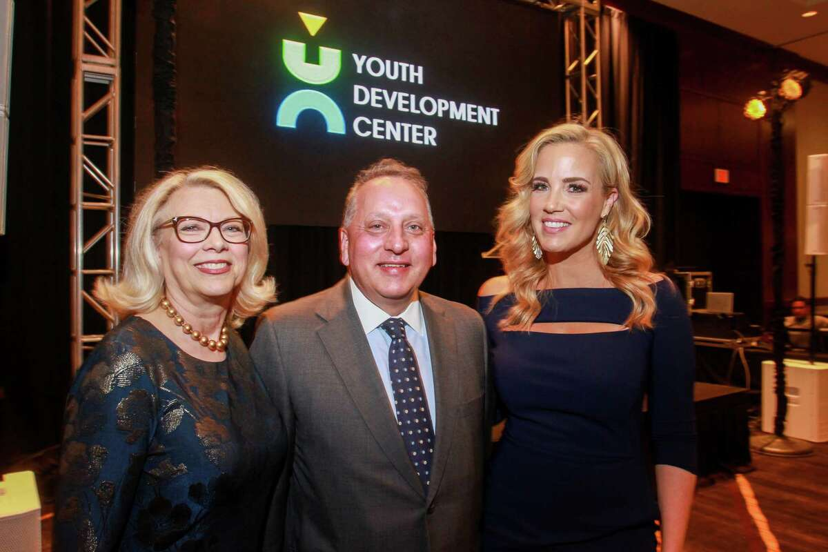 Mary Nell Jones, executive director of Youth Development Center, from left, with co-chairs Robert Hallett and Kristen Barley at Bon Vivant benefiting the Youth Development Center.