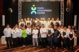 Chefs group shot at Bon Vivant benefiting the Youth Development Center.