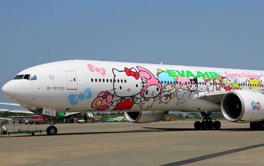 EVA Air's Hello Kitty Hand-in-Hand 777-300ER. Photo: EVA