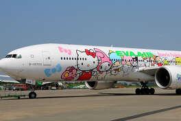 EVA Air's Hello Kitty Hand-in-Hand 777-300ER.