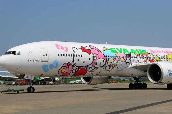 EVA Air's Hello Kitty Hand-in-Hand 777-300ER.