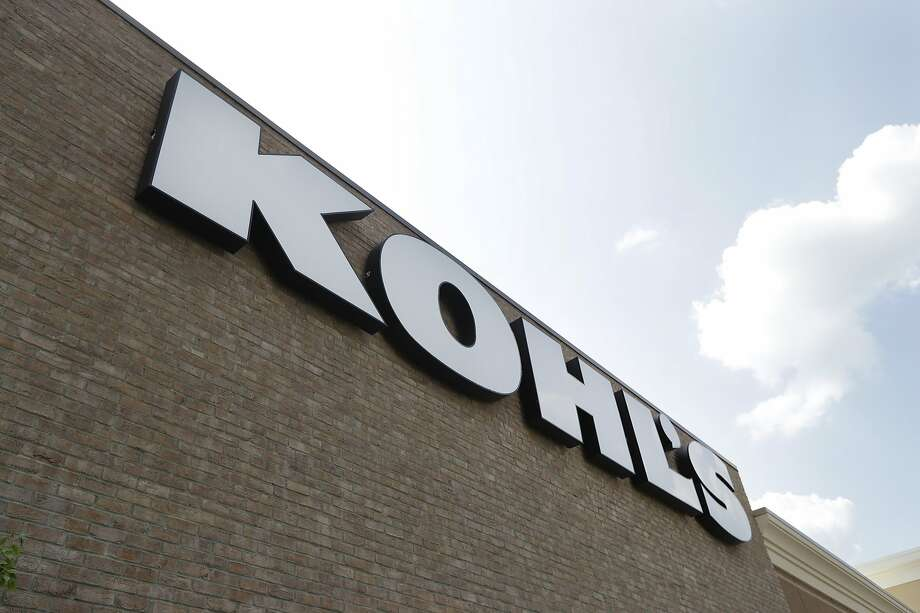 FILE - In this Aug. 28, 2018, fie photo, a Kohl's sign is shown in front of a Kohl's store in Concord, N.C. Kohl's wants you to skip the post office and bring your Amazon returns to its stores. The department store chain says it will accept Amazon returns at all its 1,150 stores starting in July. (AP Photo/Chuck Burton, File) Photo: Chuck Burton / Associated Press