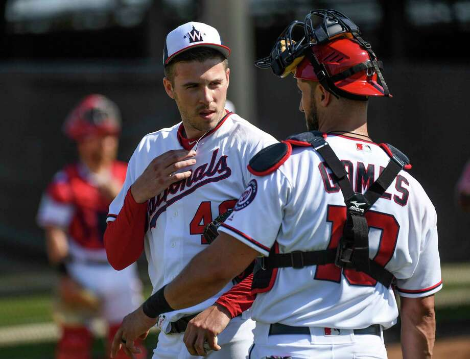 The Nationals want to keep Patrick Corbin and catcher Yan Gomes paired together this season. Photo: Washington Post Photo By Toni L. Sandys / The Washington Post