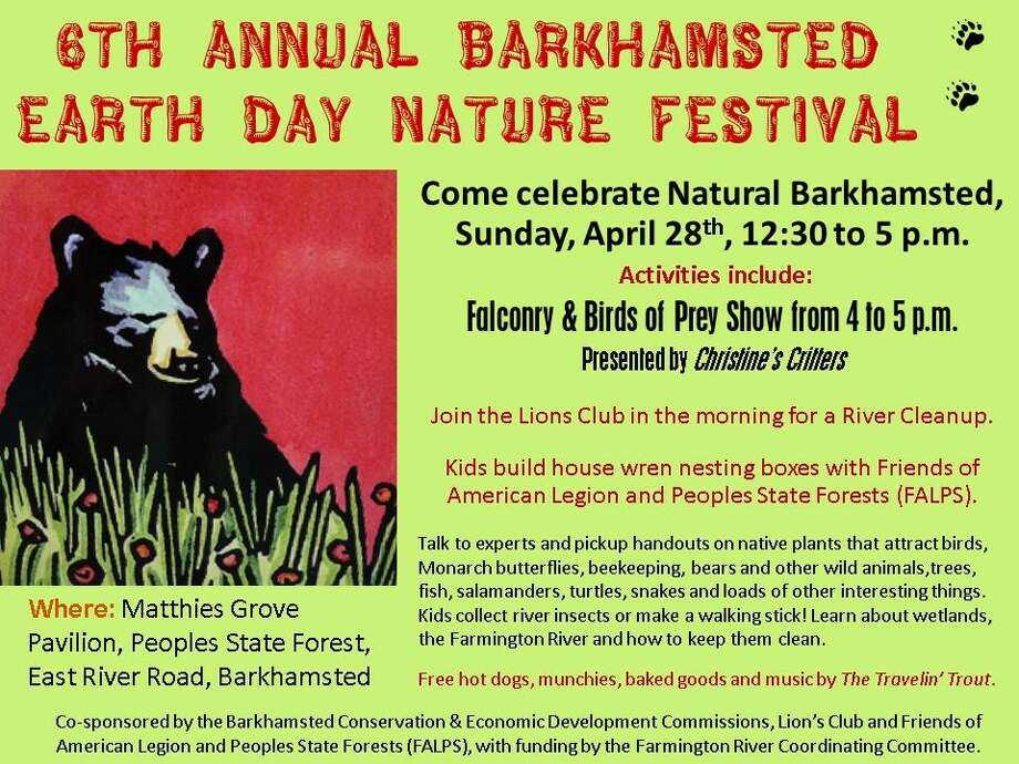 Barkhamsted is holding its annual Earth Day festival on Sunday, April 28 at People's State Forest. Photo: Contributed Photo
