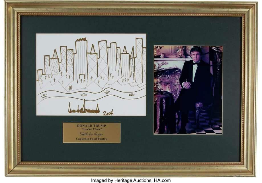 Donald Trump's 2004 sketch of the New York skyline. Photo: Heritage Auctions, HA.com / 2019 Heritage Auctions