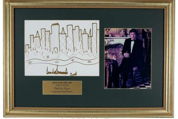 Donald Trump's 2004 sketch of the New York skyline.