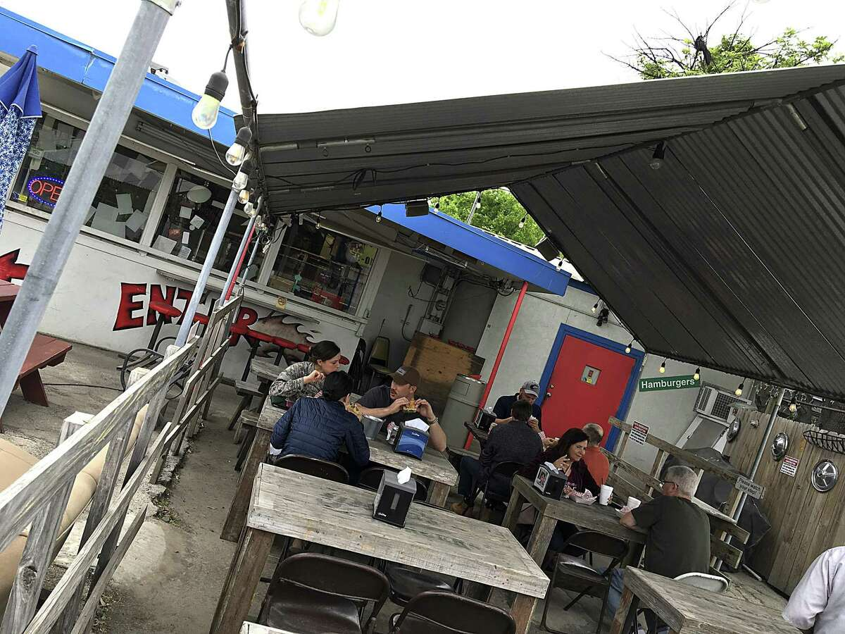 Papa's Burgers on Old Highway 90 West is a simple burger stand with a tiny dining room and a covered patio.