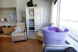 The Garden Room, a newly opened bereavement room at Texas Children's Hospital Friday in The Woodlands, TX.