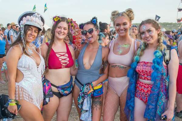 The heat didn't deter music and tubing fans on Sunday, July 22, 2018, as they hung out at Float Fest near San Marcos.