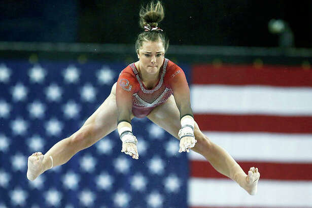 USA Gymnastics and the United States Olympic Committee have awarded the 2020 U.S. Olympic Gynmnastics Team Trials to St. Louis. The event will take place at the Enterprise Center on June 25-28, 2020. Above, Oklahoma gymnast Maggie Nichols competes on the uneven bars in the Perfect 10 Challenge at the Bart and Nadia Sports Experience earlier this year in Oklahoma City.