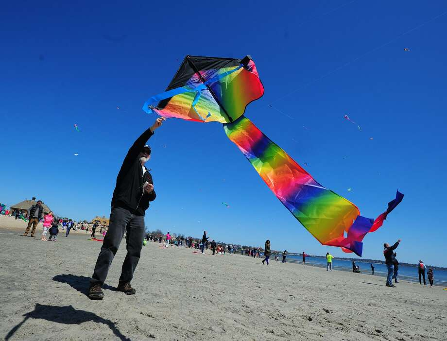 The annual Kite Flying Festival returns to Greenwich Point Park Beach starting at 11:30 a.m. April 27. Participants are encouraged to bring kites of all shapes and sizes, made of plastic, paper or fabric. Special award ribbons are given to all high fliers. For more info, visit www.greenwichartscouncil.org/Kite-Festival.html. Photo: File / Hearst Connecticut Media / Greenwich Time