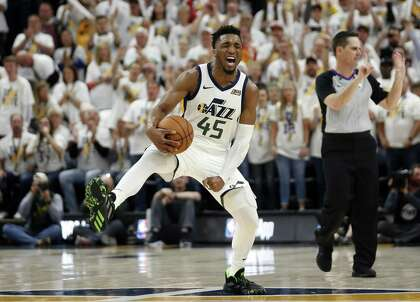 separation shoes 62332 7b59e Jazz have a fighting chance, thanks to Donovan Mitchell ...