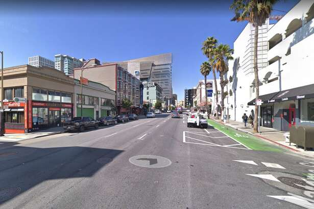 Google street view of 7th Street and Natoma, where a skateboarder was killed in an accident on April 23, 2019.