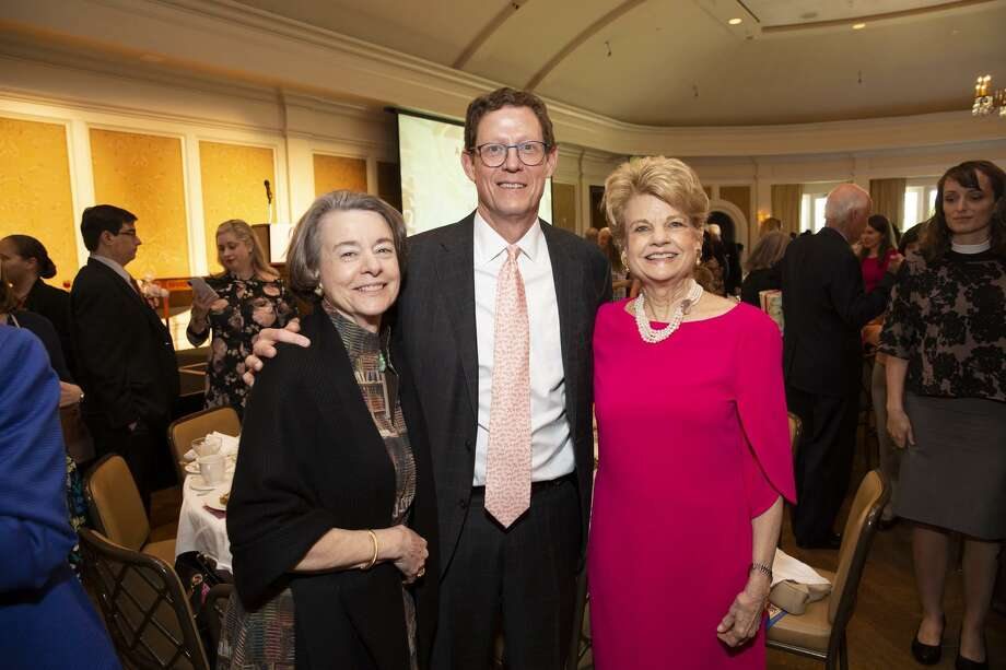 The 7th Annual Luncheon made history for The Rose, the Houston-based breast healthcare provider that has built a reputation of quality care for the insured and uninsured across southeast Texas. Shown here are Flo McGee, Jeff Friedman, and Kay Hedges. Photo: Courtesy Photo