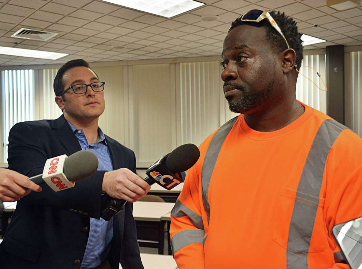 Rodney Williams, uncle of Paul Witherspoon, speaks to reporters Tuesday.
