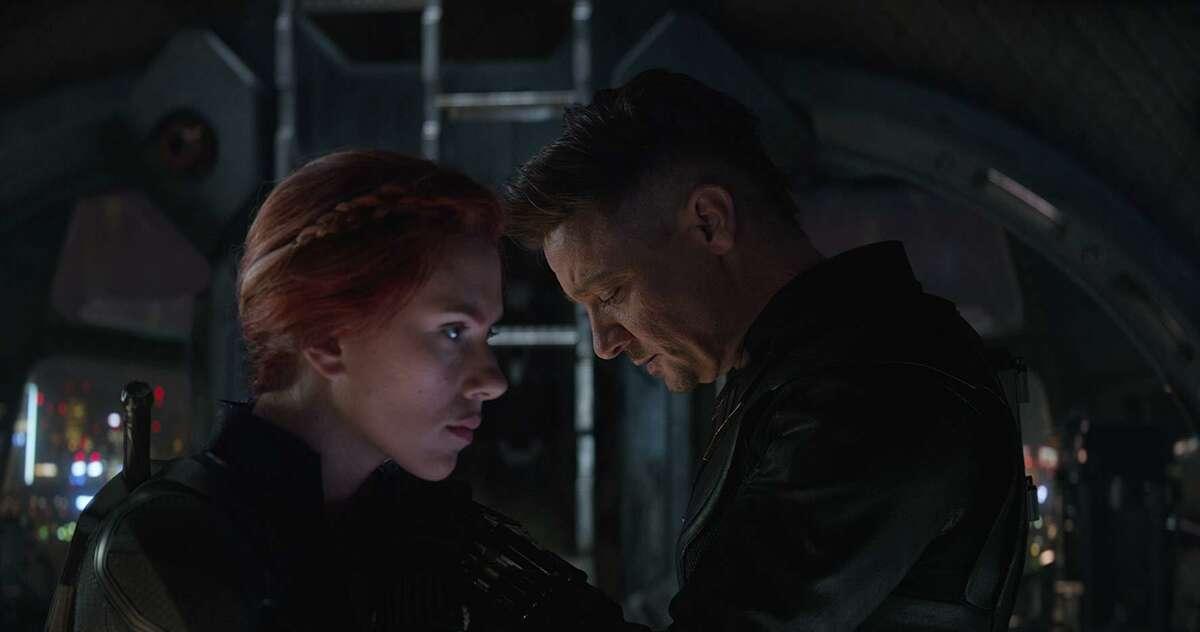"""Scarlett Johansson and Jeremy Renner in """"Avengers: Endgame"""""""
