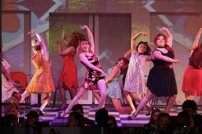 "Performance photos for Albany High School's production of ""Sweet Charity."""