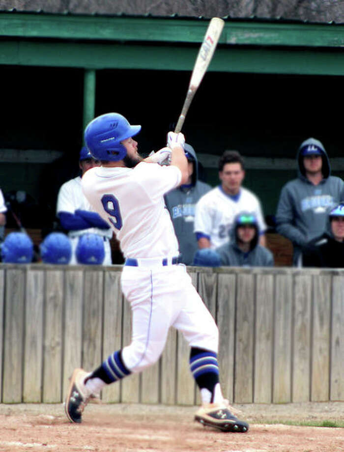 LCCC's Seth Nast went 3-for-4 with a pair of triples in his team's 14-0 victory Tuesday at Vincennes University . Photo: Pete Hayes | The Telegraph