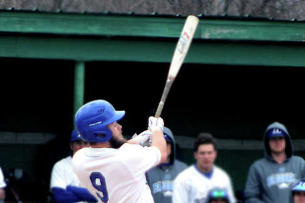 LCCC's Seth Nast went 3-for-4 with a pair of triples in his team's 14-0 victory Tuesday at Vincennes University .