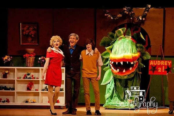 "Performance photos for Gloversville High School's ""Little Shop of Horrors."""