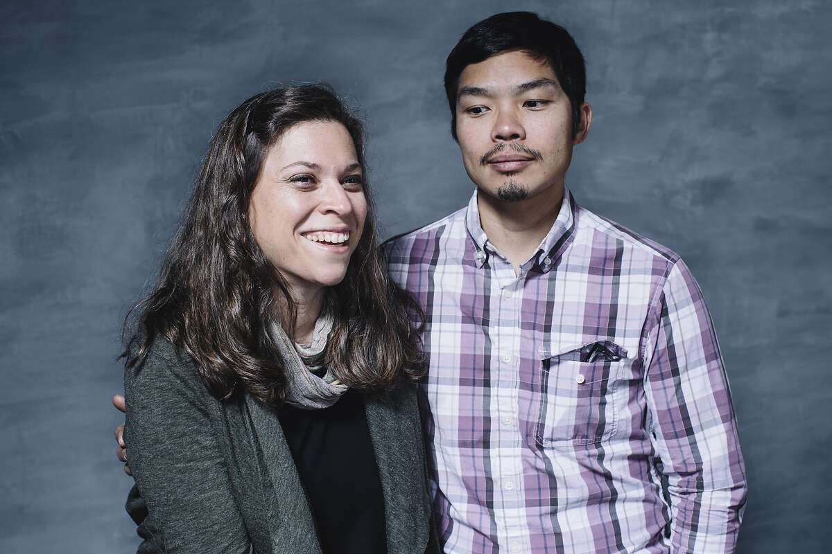Karen Leibowitz, left, and Anthony Myint, co-founders of The Perennial, stand for a portrait in San Francisco, Calif. on Monday, Dec. 28, 2015.