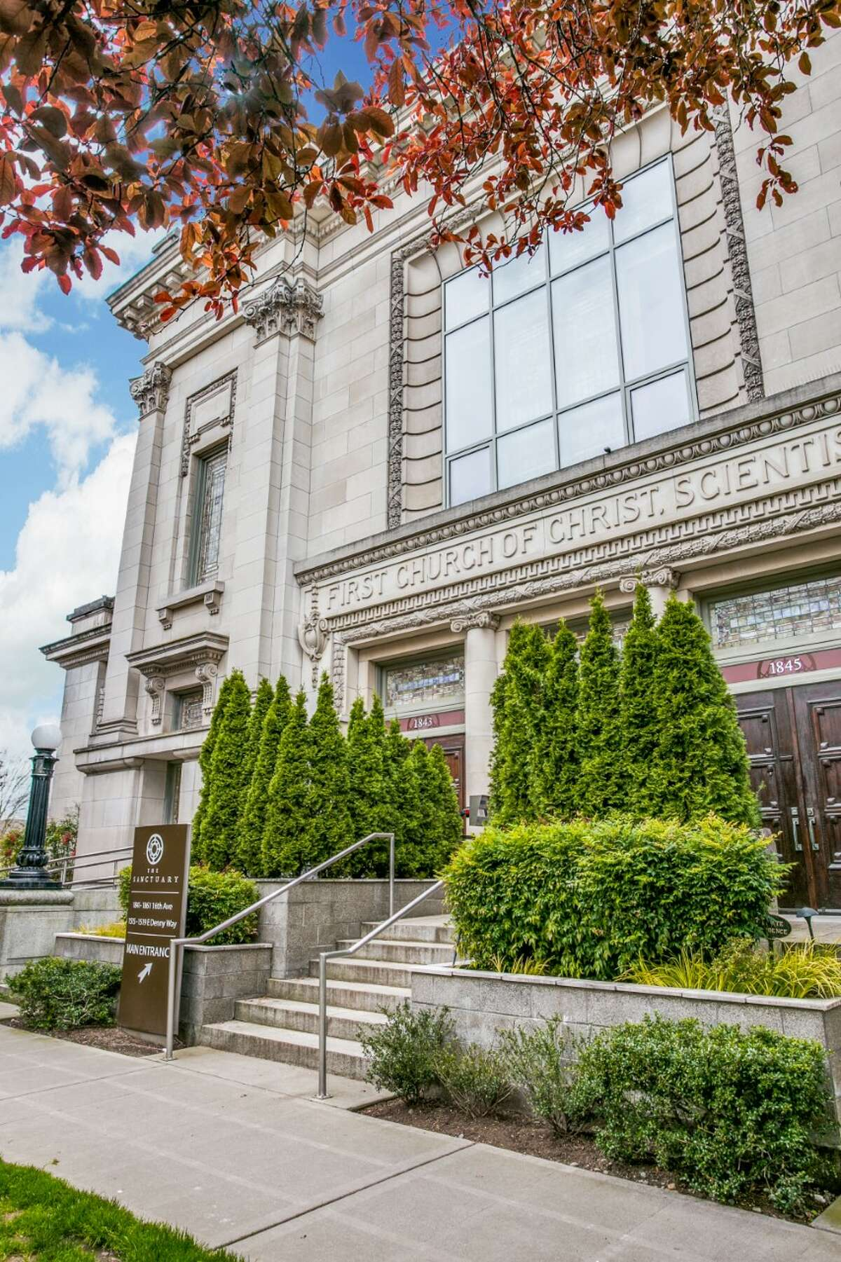 One of 12 rather miraculous townhomes in this Capitol Hill church conversion, asking $2.2M