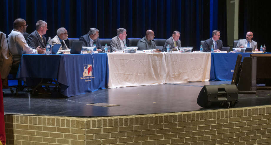 The Midland ISD board met Tuesday afternoon to address social media comments concerning an incident at Abell Junior High School. Photo: Tim Fischer/Reporter-Telegram