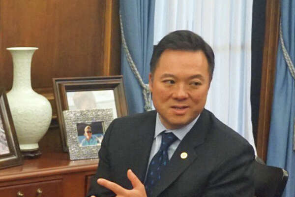 Attorney General William Tong filed an amended complaint against opioid-maker Purdue Pharma on April 22, 2019. He discussed the complaint on Tuesday Aprill 23, 2019 in a press conference at the Attorney General's office in Hartford, Conn.