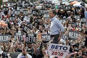 Former Texas Congressman Beto ORourke speaks during his presidential kickoff campaign in downtown El Paso, Texas.